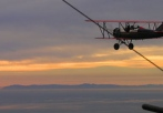 sunset scenic biplane flight san diego