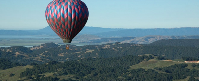 hot air balloon flight napa