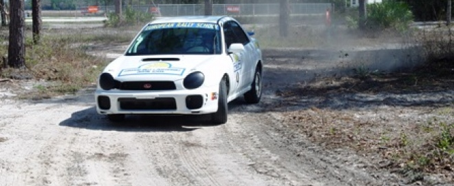 Get behind the wheel of a rally car