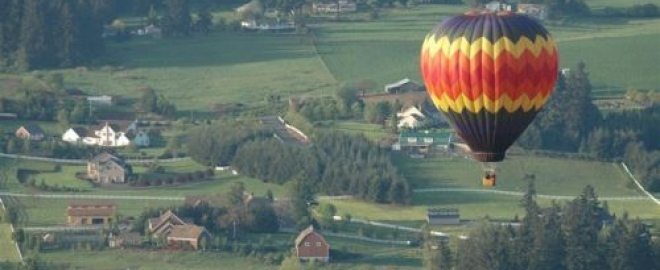 champagne balloon flight for two oregon