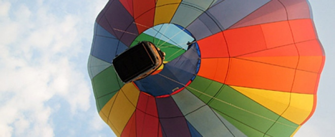 private champagne hot air balloon ride catskill mountains