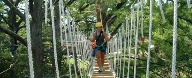 texas canopy tour with zipline near austin