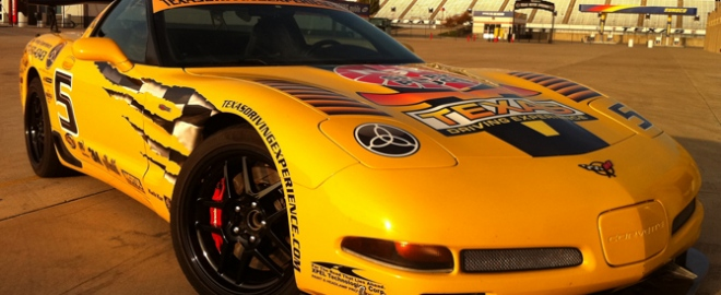 drive a corvette at texas motor speedway