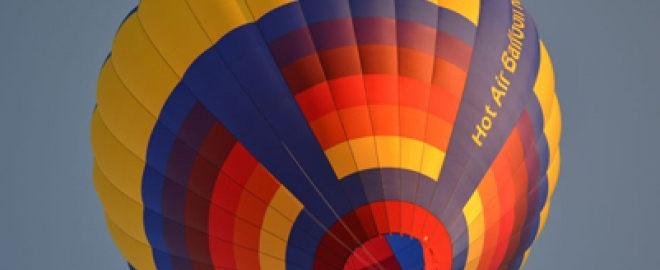 private hot air balloon flight for 2 in ohio