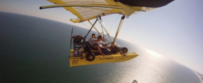 powered hang gliding flight jasper