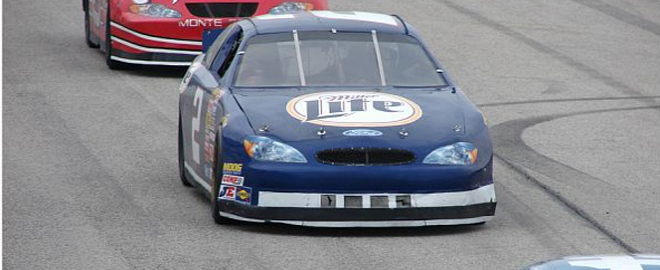 stock car driving at charlotte motor speedway