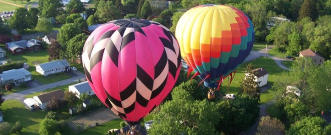 hot air balloon flights in ny