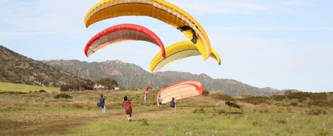 santa barbara paragliding experience