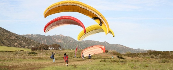 tandem paragliding flight near los angeles