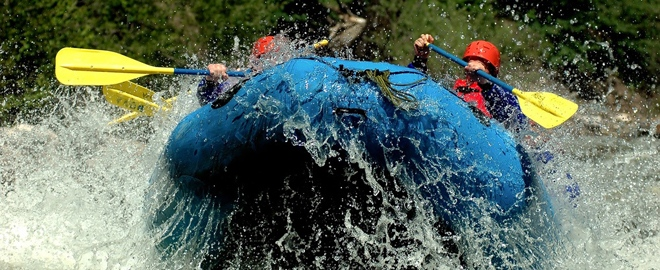 rafting trip in california