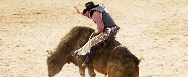 Rodeo riding