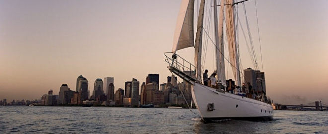 tall ship sailing manhattan