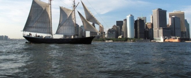 classic boat sailing new york