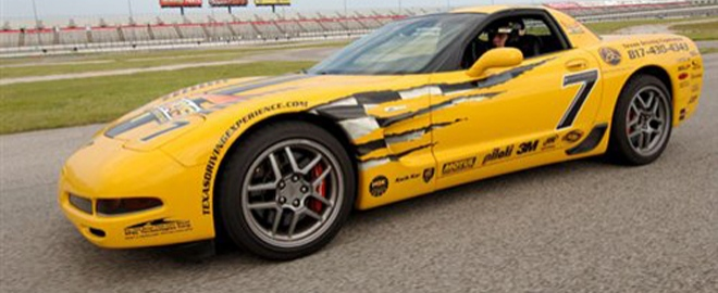 texas motor speedway ride a long in a corvette