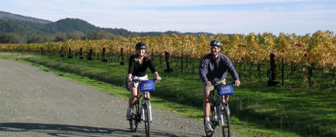 winery bike tour CA