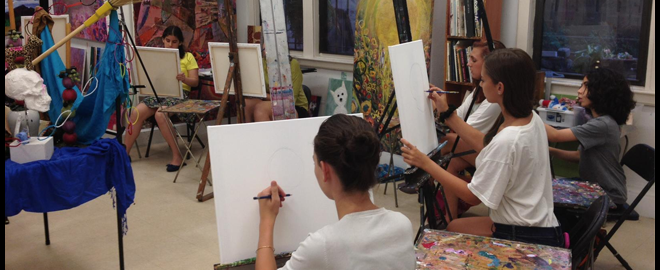 Private drawing class for two new york great american days for Arts and crafts new york
